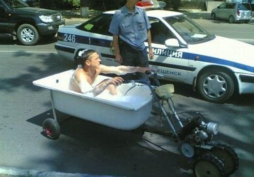 Scrub A Dub Dub In The Motorcycle Tub