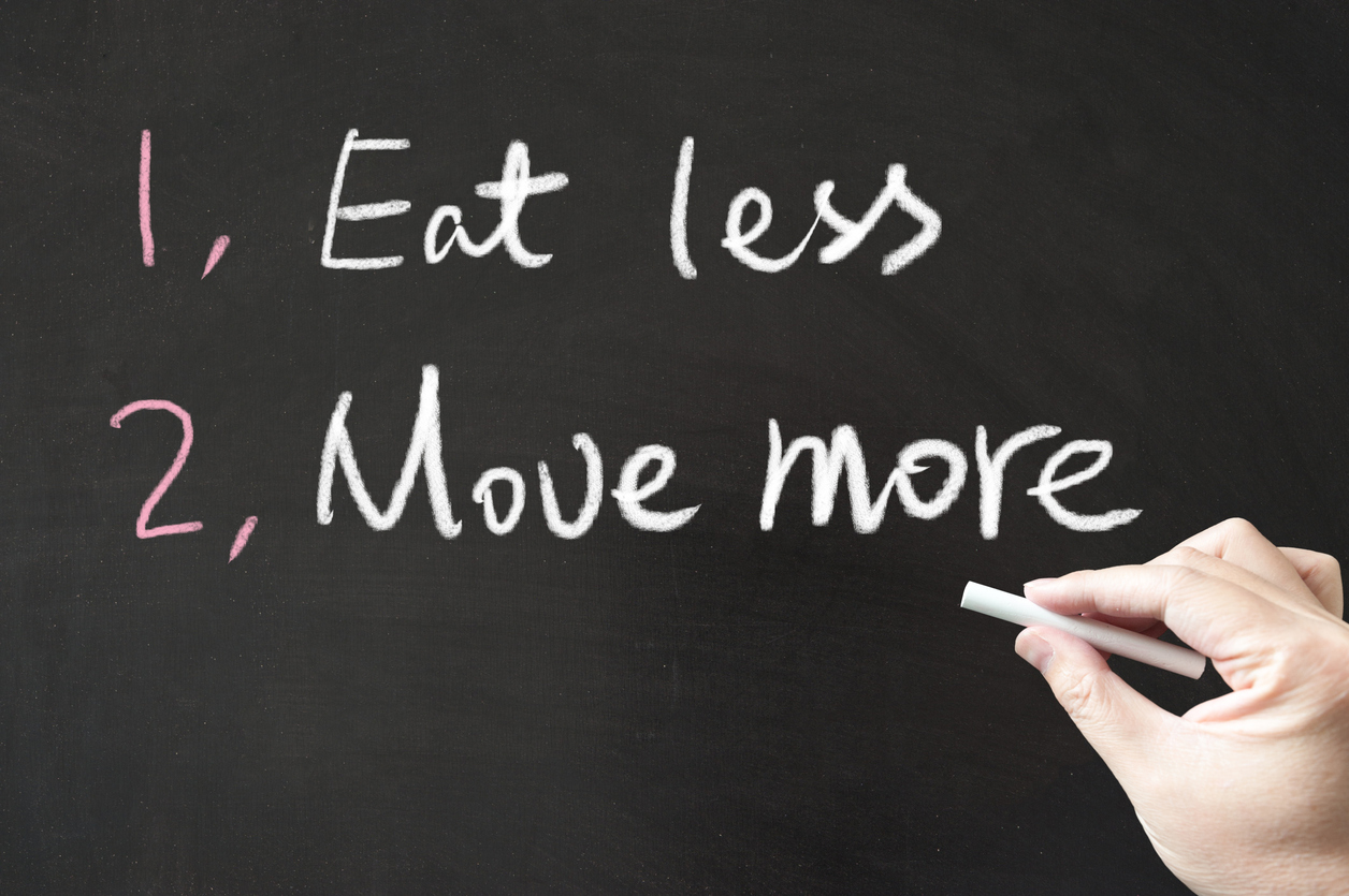 Image result for eat less move more