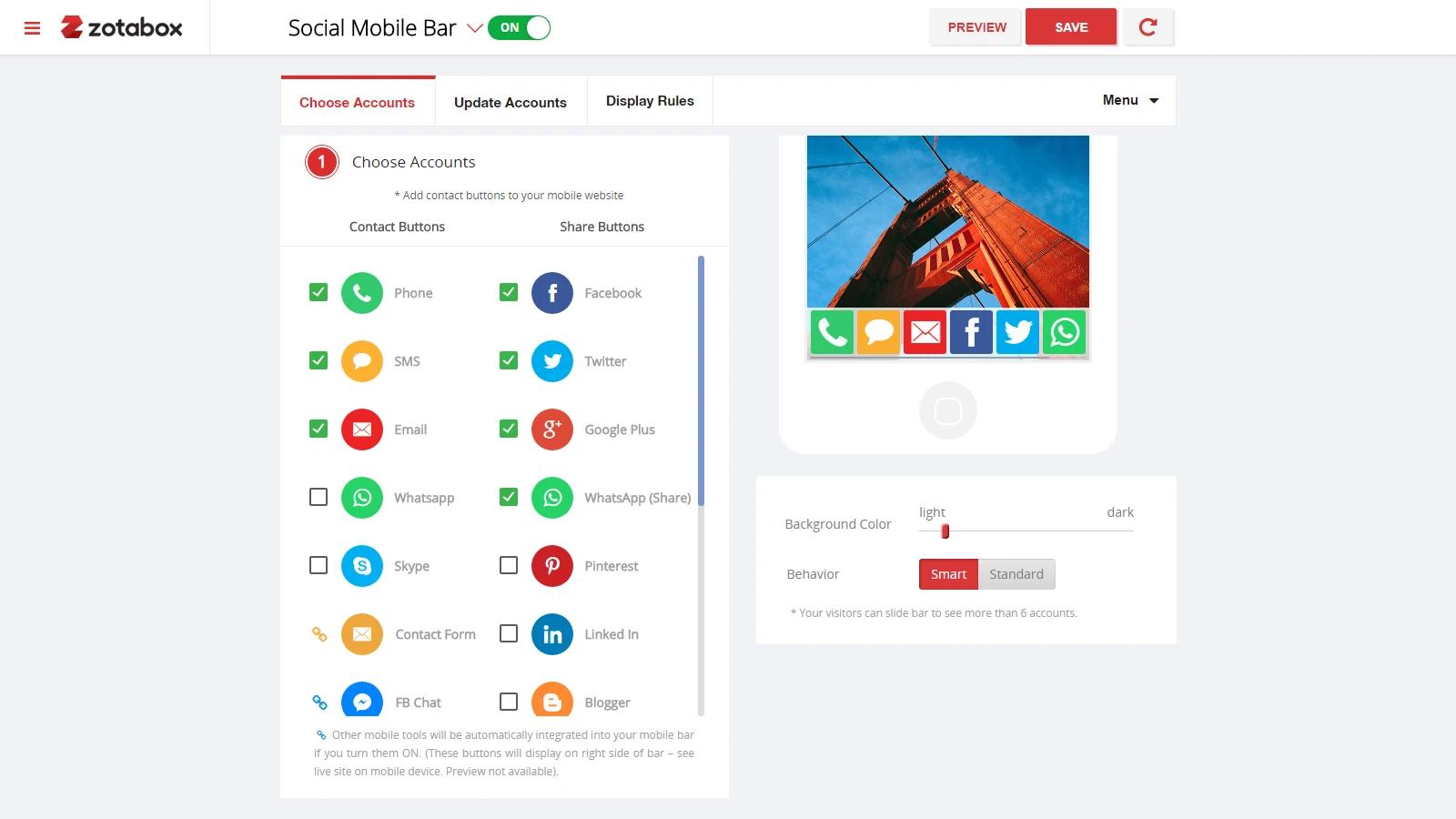 outstanding Social share app