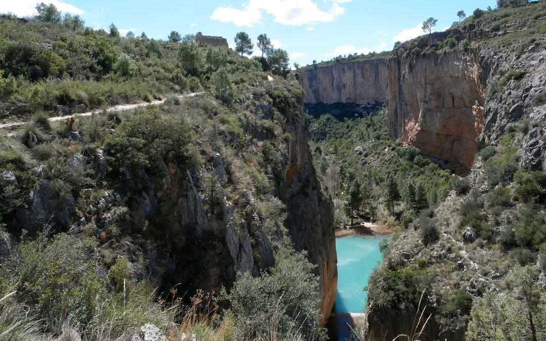 Desde este punto de la ruta podrás disfrutar del Charco Azul ¡Muy bonito!