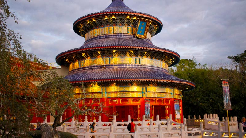 China pavilion Epcot Walt Disney World