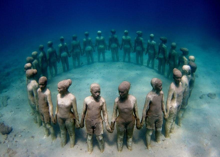 Esculturas submarinas de Jason deCaires Taylor.