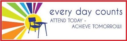 every day counts attend today-achieve tomorrow!
