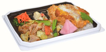 肉野菜炒め&カツどん