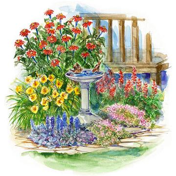 Image result for small garden painting