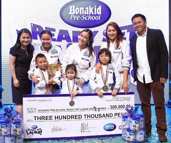 Bonakid Pre-School Ready Set Laban kiddie game show winners