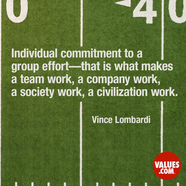 Build personal relationships with individuals in your group, or team. #teamwork #passiton www.values.com