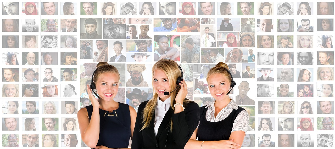 Three customer support agents