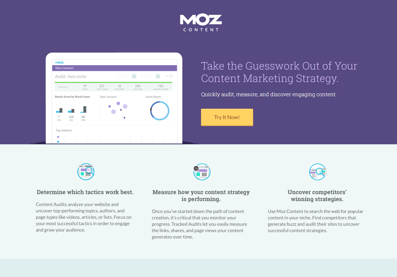 Great landing pages Moz