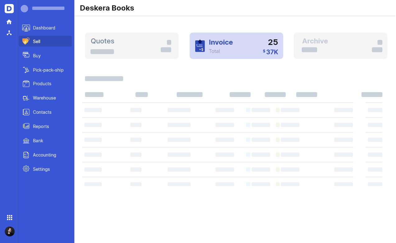 Deskera Invoicing System