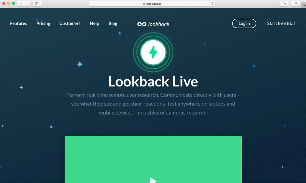 Site Lookback Live pode ser usado para fazer testes remotos moderados de usabilidade