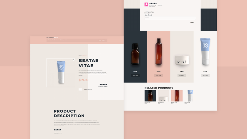 Example for a product/ service section of a branding website
