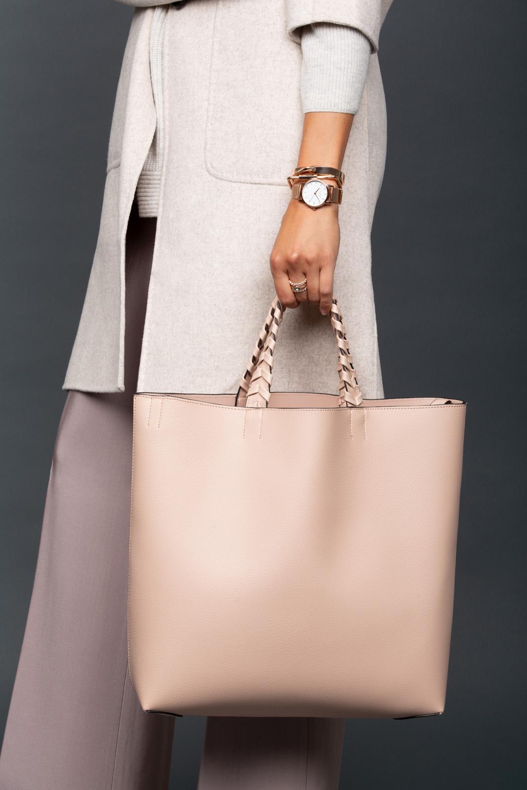 tailored wardrobe - Jules Kae Vegan Leather Tote
