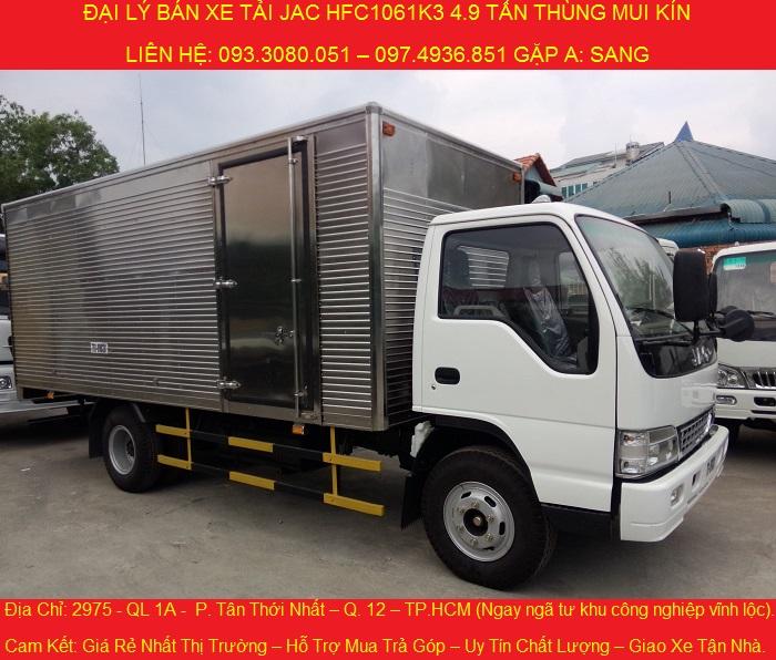 bán xe tải jac 4.9 tấn, xe jac 4t9 giá cực rẻ