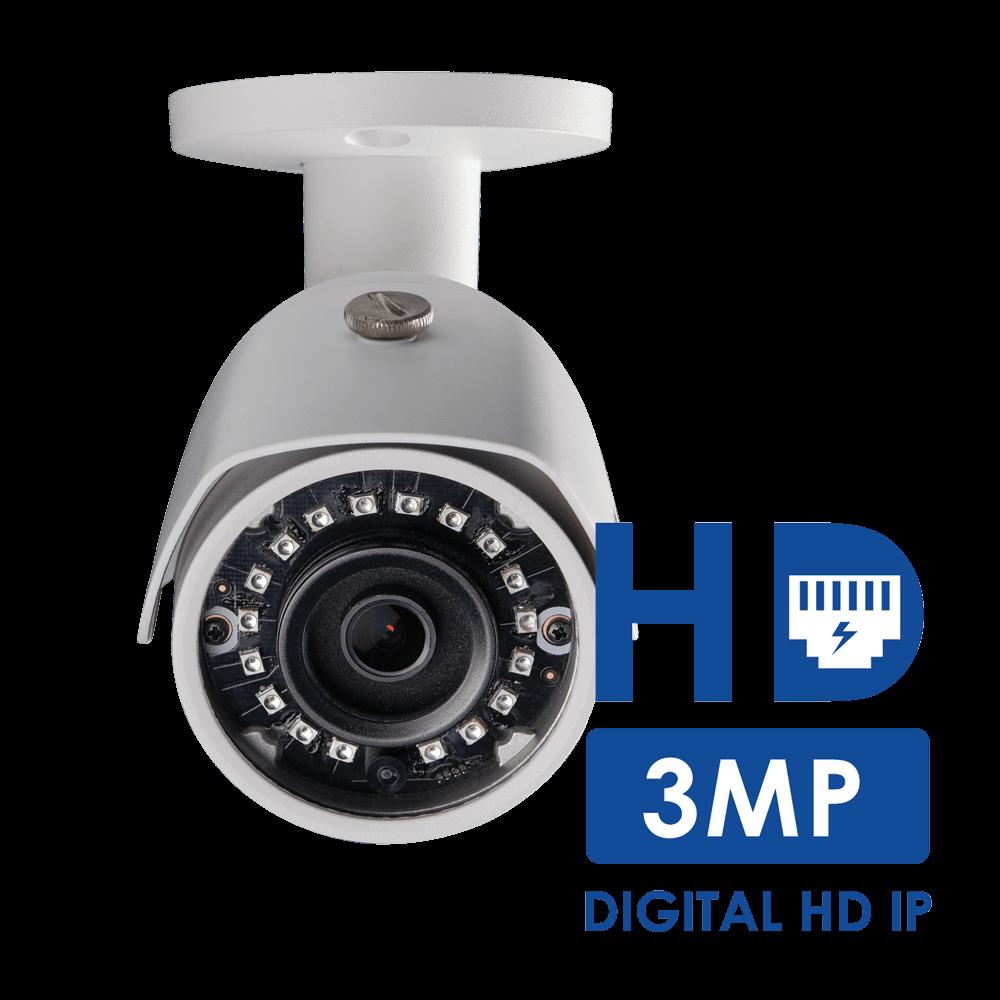 3MP recording - 50% more detail than 1080p HD
