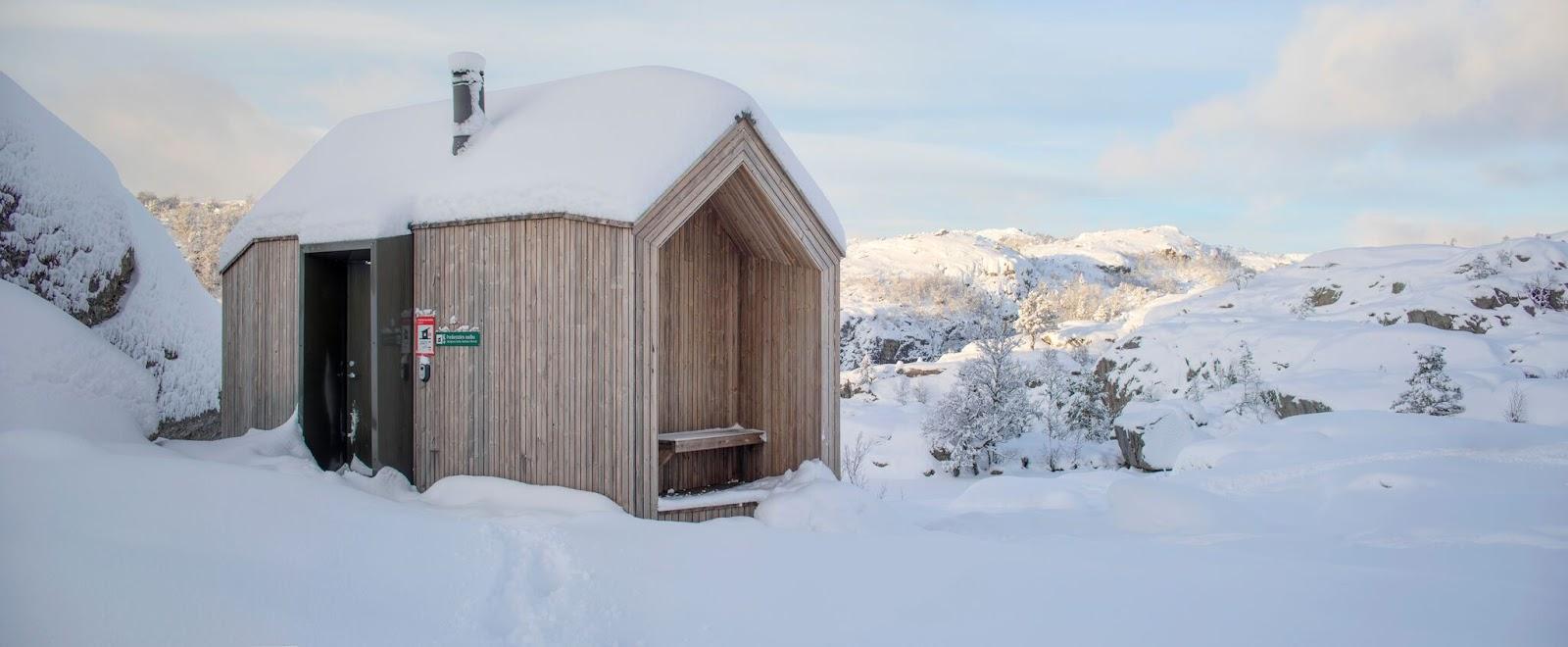 Liten hytte bygget med Kebony