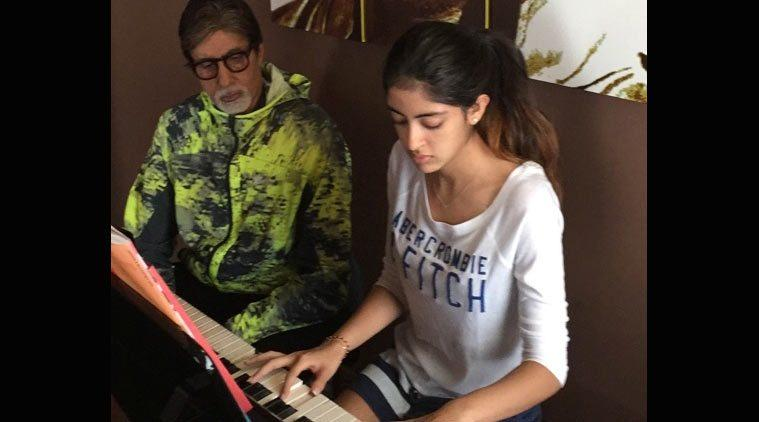 Image result for who is amitabh bachchan  granddaughters?