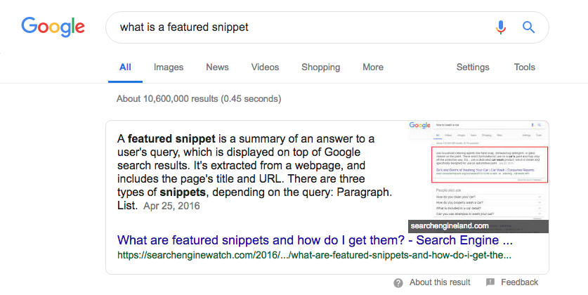 Ranking content in featured snippet  | Sydney SEO