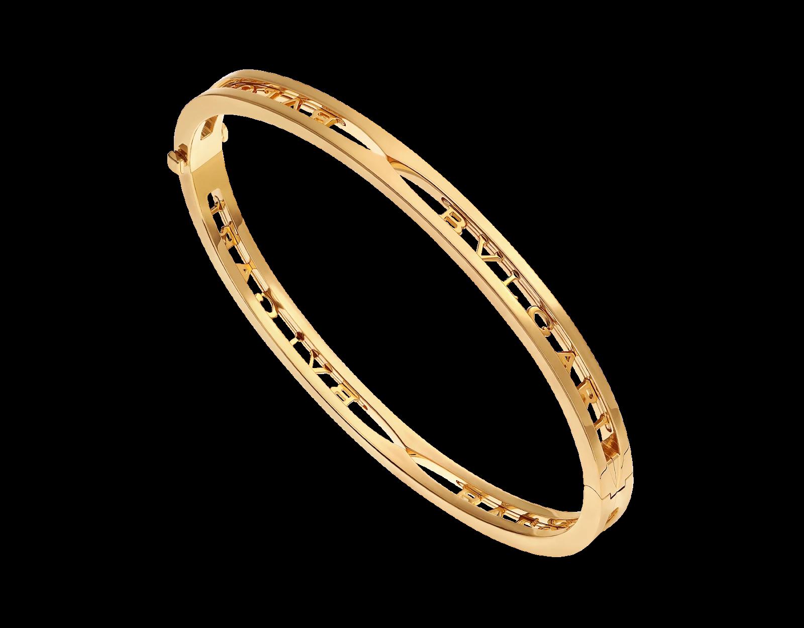 4. กำไลข้อมือผู้หญิงแบรนด์ BVLGARI รุ่น B.Zero1 18k Yellow Gold Bangle Bracelet