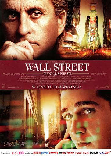 Przód ulotki filmu 'Wall Street: Pieniądz Nie Śpi'