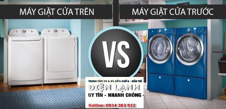 Nên mua máy giặt cửa trên hay máy giặt cửa trước