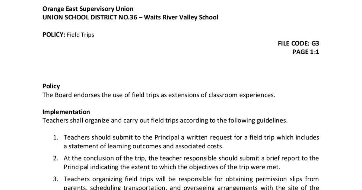 conclusion for field trip report