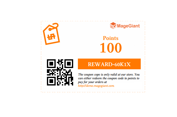 magento Reward Point coupon template