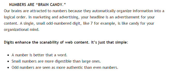 """headlines - Derba Jason explanation that numbers are """"like brain candy"""""""
