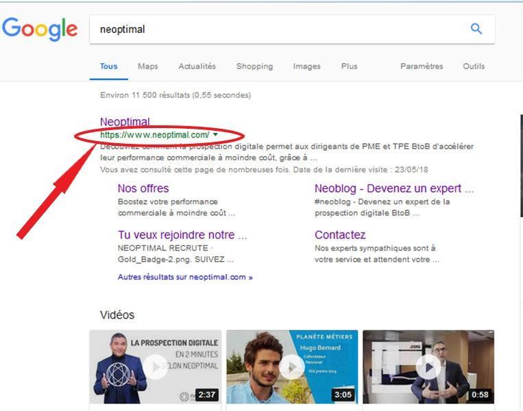 image page de résultats Google