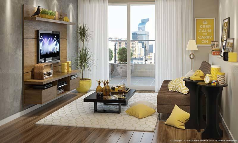 Resultado de imagem para decorar uma sala pequena sofa