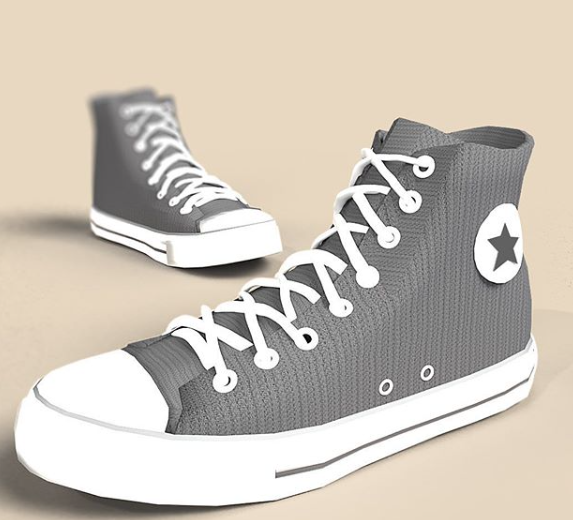 Shoes designed in SelfCAD software