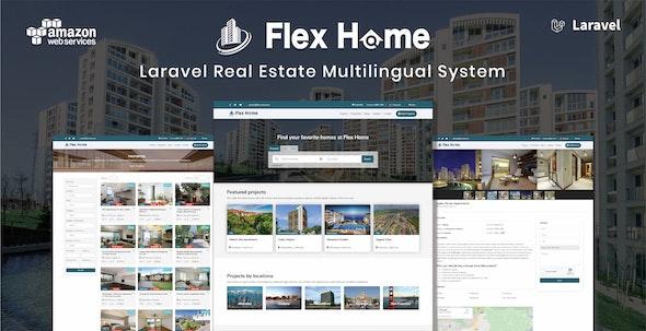 Flex Home - Laravel Real Estate Multilingual System - CodeCanyon Item for Sale