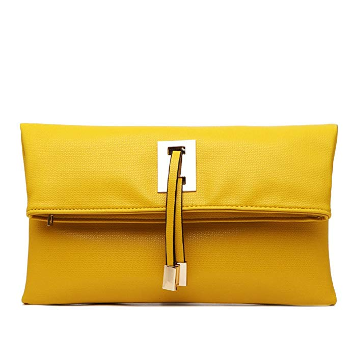 This yellow women's clutch by Abshoo is a great evening purses