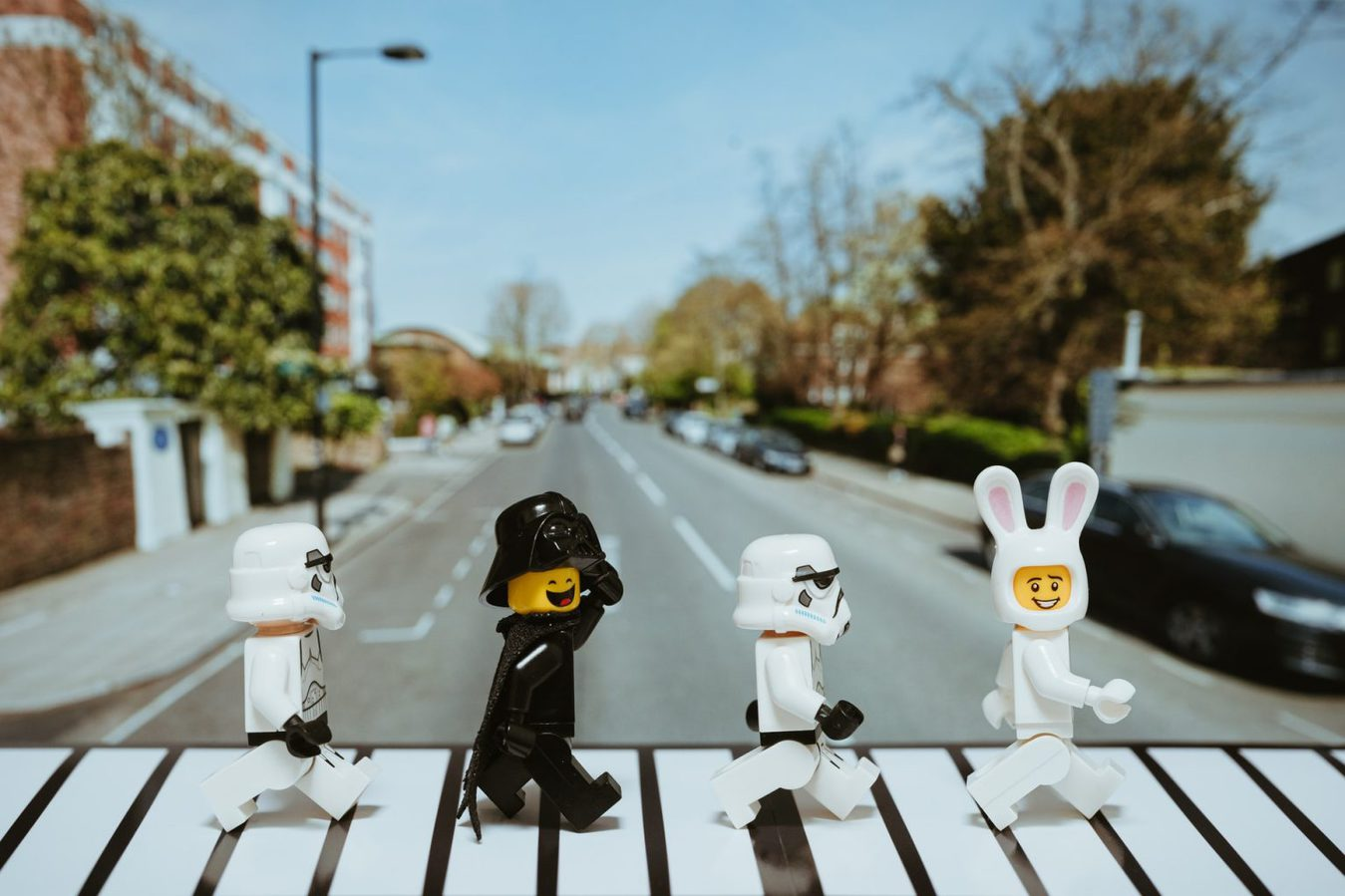 Lego Beatles crossing the road
