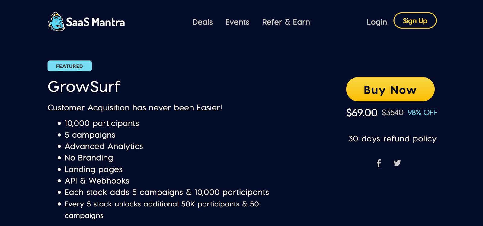 SaaS Mantra - Influencer Program Opportunites