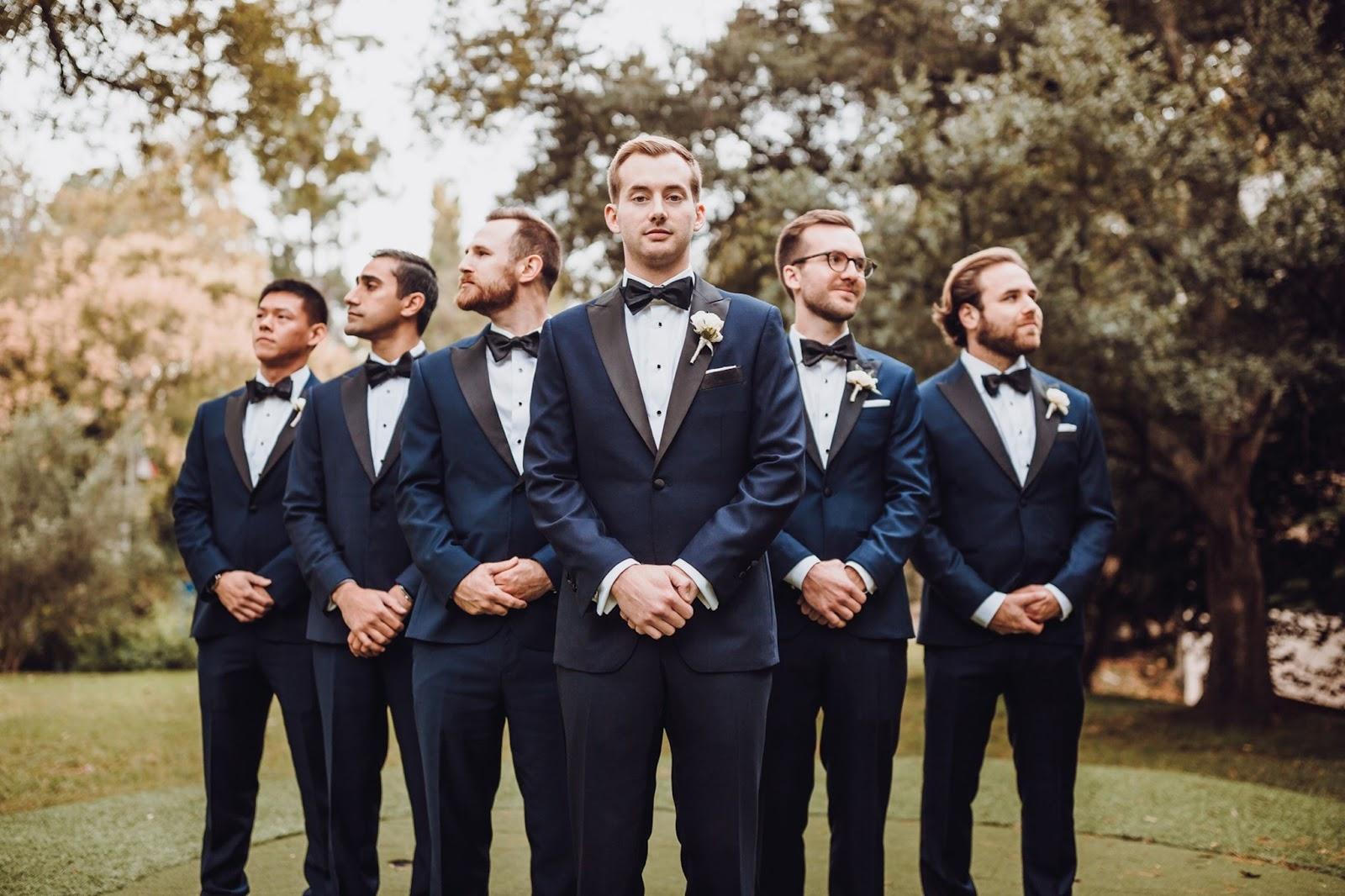 Black Tie Wedding Attire for Men Photo