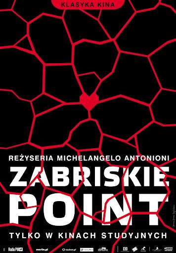 Polski plakat filmu 'Zabriskie Point'
