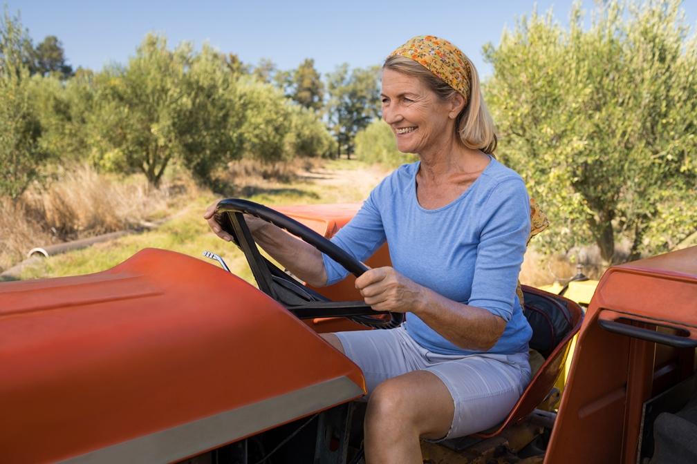 baba vozi traktor, ulje za traktor