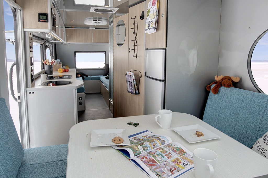 Interior of the Alto F2414, one of the best campers for EVs