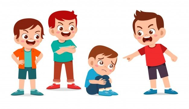 school bullying is quite common. a bully is someone who makes fun of others