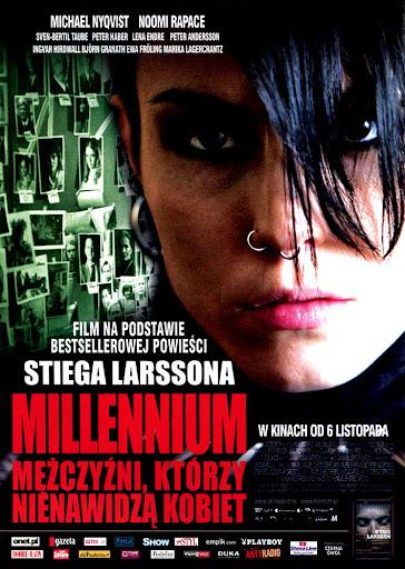 Przód ulotki filmu 'Millenium: Mężczyźni, Którzy Nienawidzą Kobiet'
