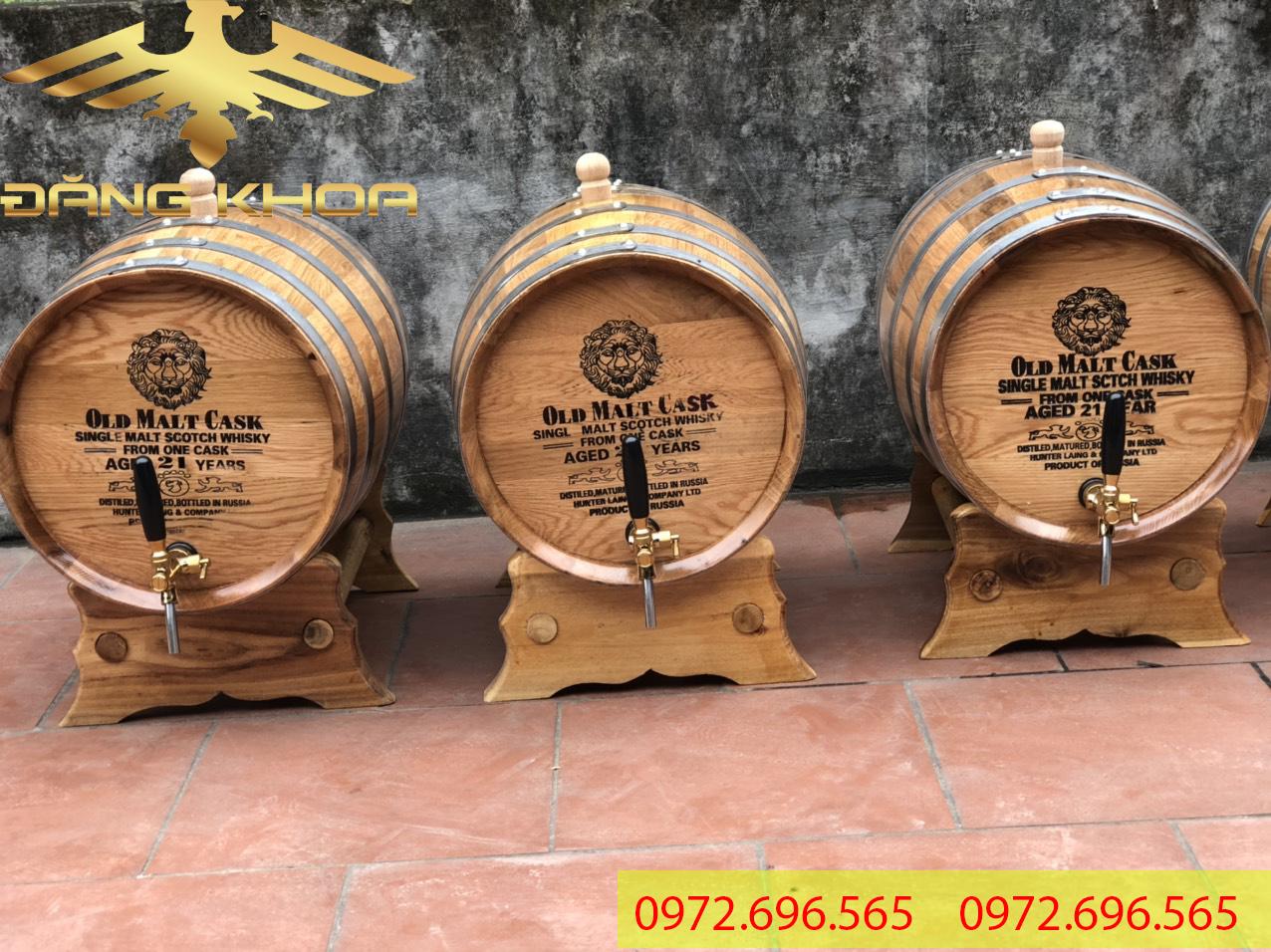 Giá của thùng gỗ sồi rất hợp lý trên thị trường