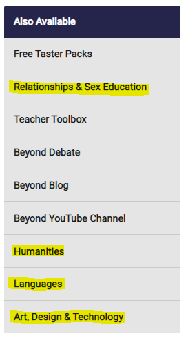 Beyond Teaching Resources: Also Available