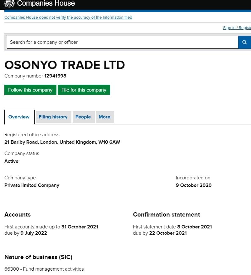 Отзывы об Osonyo и анализ инвестиционных предложений
