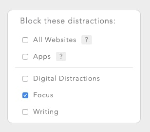 Select the blocklist you want to use