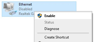 enable ethernet