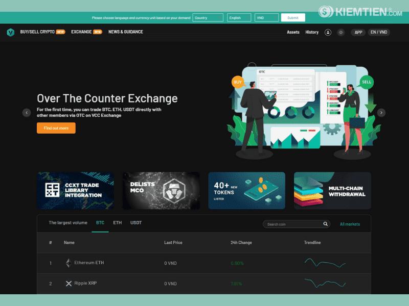 Review sàn giao dịch tiền ảo VCC Exchange   Diễn đàn Thế Giới Mạng