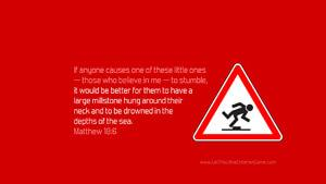 Bible Verses About Children Desktop Wallpaper Matthew 18-6 Thumbnail