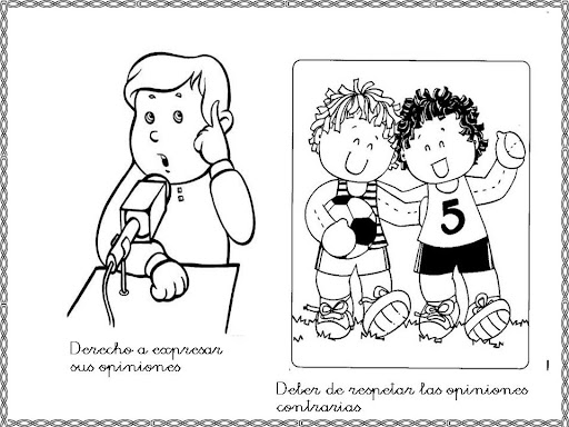 Derecho a la libertad de expresion para colorear - Imagui
