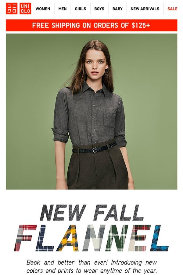 Worth noting that an autumn email campaign like this is ideal for promoting sales and for using segmented lists targeting several demographics.
